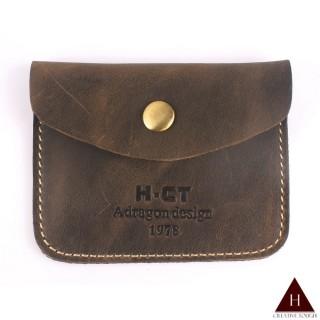 【H-CT】瘋馬皮輕薄極簡設計真皮名片夾(PUM1463-Z)
