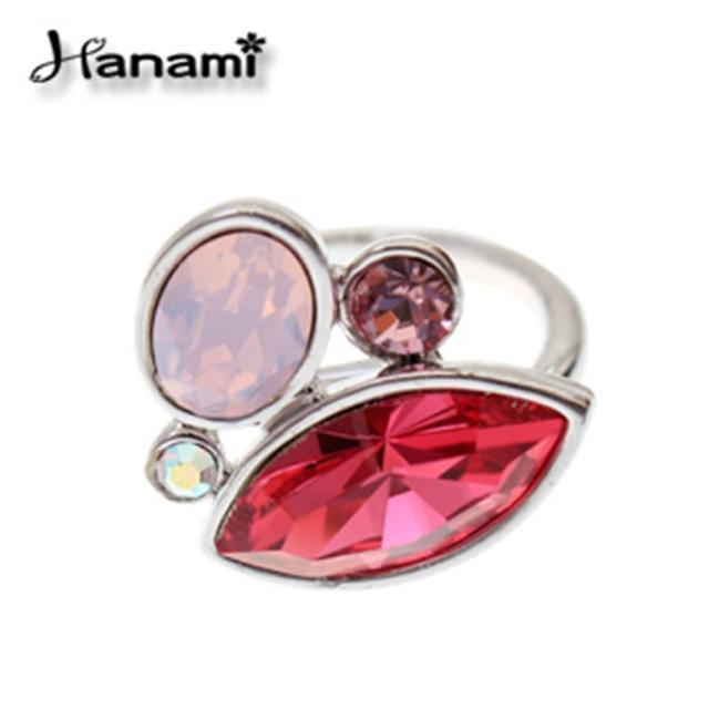 【Hanami】時尚甜心晶漾戒指(活圍)