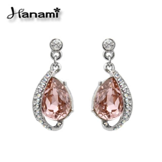 【Hanami】時尚甜心晶漾耳環
