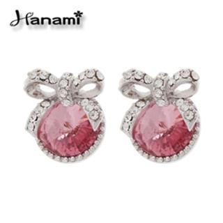 【Hanami】蜜桃甜心晶漾耳環