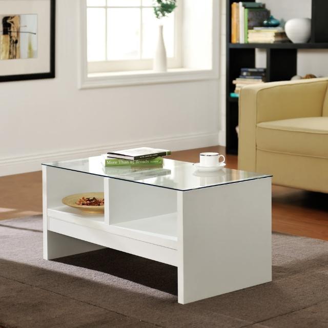 【FUN生活】DIY經典安全玻璃茶几桌(白色)