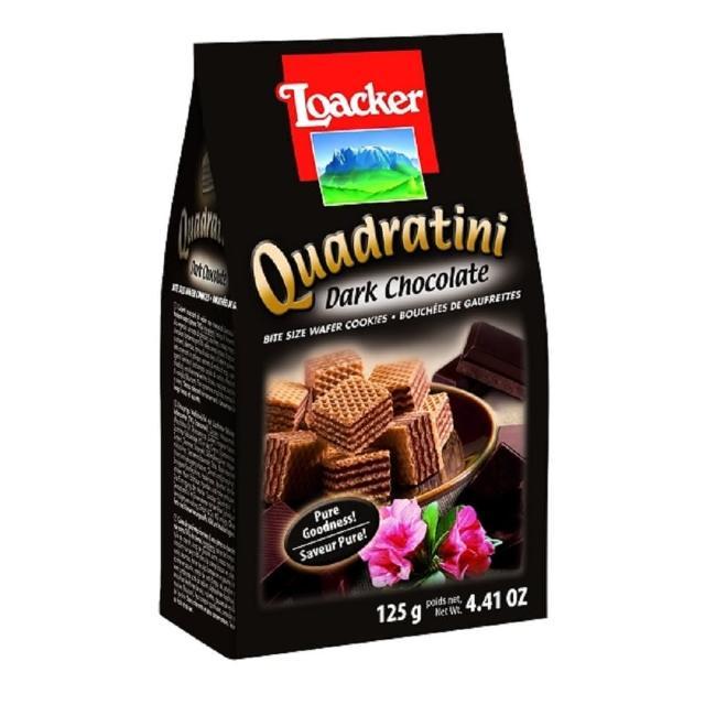 【萊佳】萊佳方角哈斯餅 黑巧克力125g