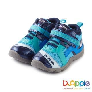 【Dr. Apple 機能童鞋】MIT字母流線剪裁閃亮童鞋(藍)