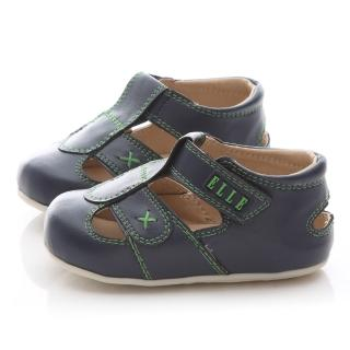 【ELLE】小童 魔鬼氈學步涼鞋(ELKK50576-深藍)
