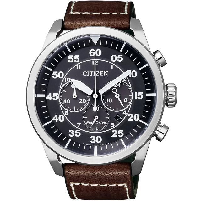 【CITIZEN 星辰】Eco-Drive 霸氣風範光動能計時腕錶(CA4210-16E)