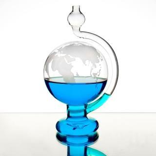 【賽先生科學】天氣預報球-玻璃氣壓球/晴雨儀(世界地圖版)