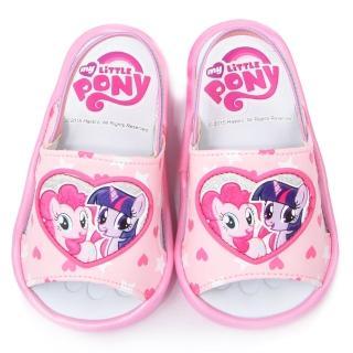 【童鞋城堡】Pony彩虹小馬 嗶嗶BB學步後帶拖鞋(MP0188-粉)