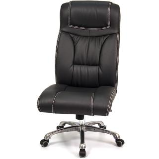 【aaronation 愛倫國度】頂級皮質無扶手辦公電腦椅(i-1902SG)