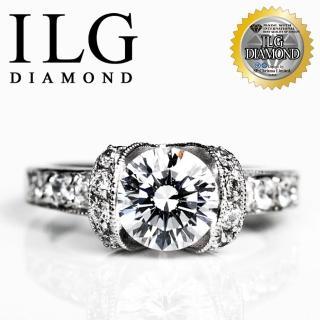 【ILG】八心八箭擬真鑽石戒指-閃耀佳麗款 RI068-主鑽2克拉 OL小資女女朋友最愛(戒指)