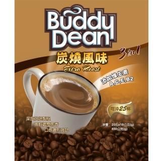 【Buddy Dean】巴迪三合一咖啡-炭燒風味(18gx25包入/袋)