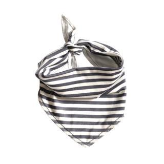 【加拿大Electrik Kidz】灰條紋後綁式有機棉圍兜(有機棉)