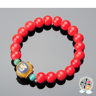 【十方佛教文物】藏式銅珠/蜜納+火山琉璃珠10mm