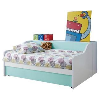 【綠活居】卡勒亞   白色3.5尺單人子母床台(不含床墊)