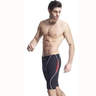 【SAIN SOU】競賽/泳隊/專業用及膝泳褲(加贈矽膠泳帽A57406)