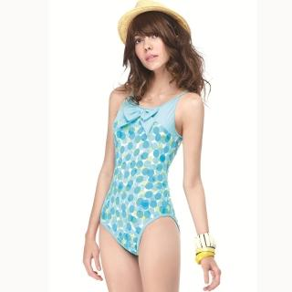 【SAIN SOU】大女連身三角泳裝(附泳帽A91401)