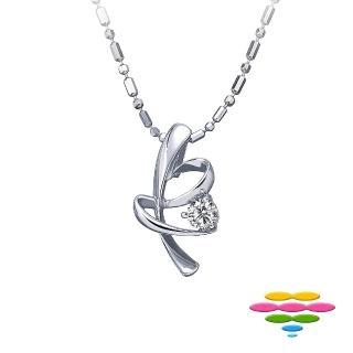 【彩糖鑽工坊】愛連結Linking love 鑽石項鍊(CL-PD81)
