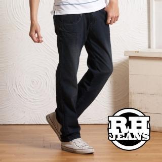 【RH】中腰手工刷破仿舊牛仔褲(活力藍)