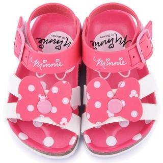 【童鞋城堡】Disney迪士尼 中小童 米妮軟木風格涼鞋(453810-粉)