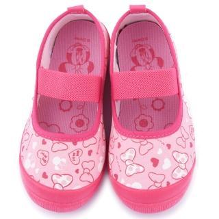 【童鞋城堡】Disney 迪士尼 中童 米妮蝴蝶結室內鞋(454421-粉)