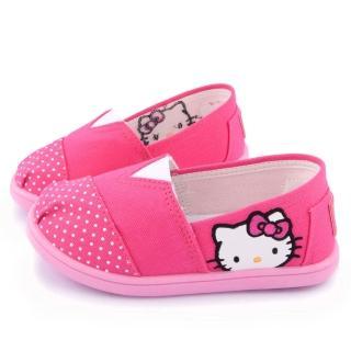 【三麗鷗】Hello Kitty 簡約設計帆布休閒鞋(715915-桃)