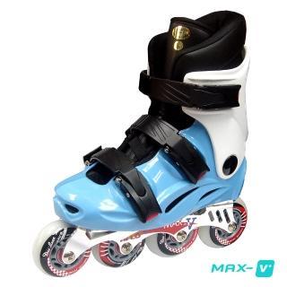 【V-MAX】鋁合金直排輪(藍白)