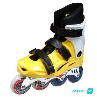 【V-MAX】鋁合金直排輪(黃白)