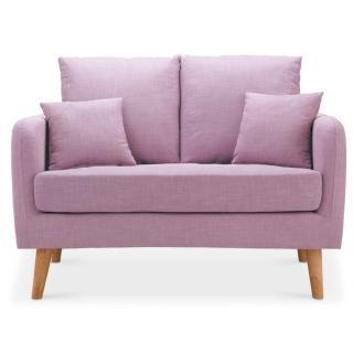 【綠活居】亞歷克斯 亞麻布獨立筒雙人沙發椅(三色可選)