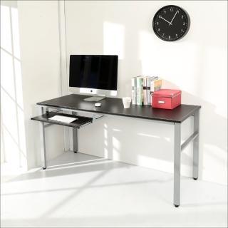 【BuyJM】環保低甲醛仿馬鞍皮160公分穩重型附鍵盤電腦桌(黑色)