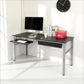 【BuyJM】環保低甲醛仿馬鞍皮160公分穩重型一抽一鍵電腦桌(黑色)