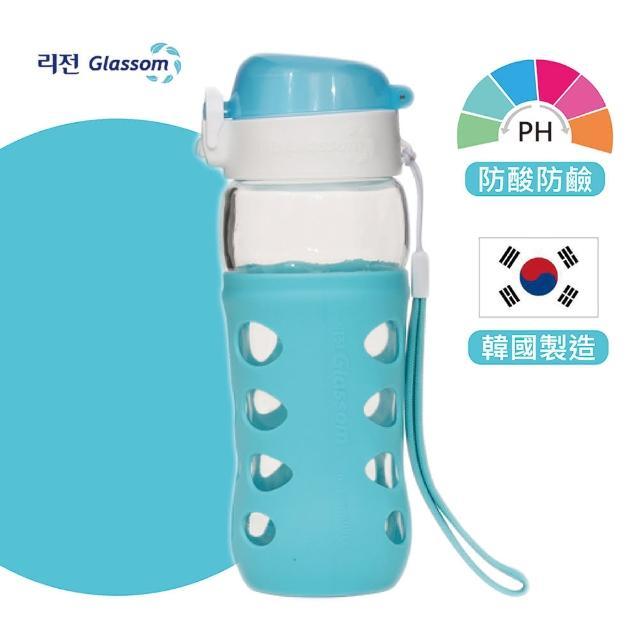 【GLASSOM】韓國POP防漏玻璃水瓶450ml(共8色)
