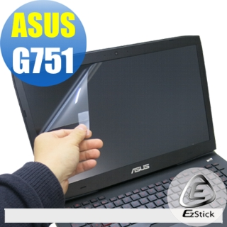 【EZstick】ASUS G751 專用 靜電式筆電LCD液晶螢幕貼(可選鏡面或霧面)