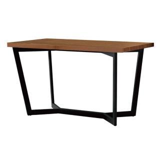 【東京家居】歐絡拉4.3尺胡桃色黑腳餐桌