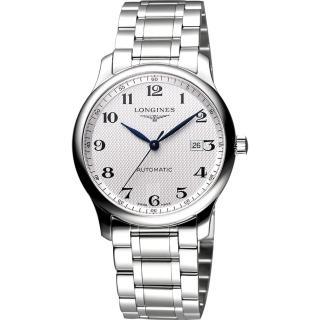 【LONGINES】Master 巨擘系列機械腕錶-銀(L28934786)
