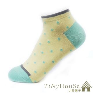 【TiNyHouSe】舒適襪系列 乾爽透氣超短襪 超值2雙組(黑色白點M號 T-07)