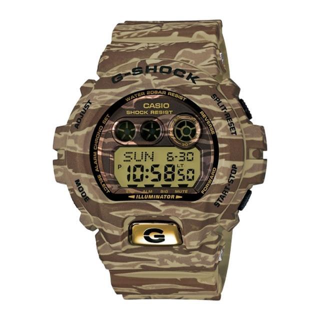 【CASIO 卡西歐 G-SHOCK 系列】叢林計畫虎斑迷彩版運動錶(GD-X6900TC)