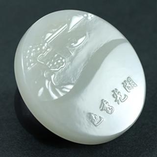 【金玉滿堂】湖光秀色-天然和闐白玉擺件(送精緻木底座)