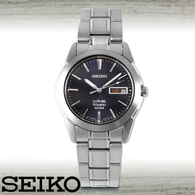 【SEIKO 精工】藍寶石 鈦金屬超輕時尚紳士腕錶(SGG729P1)