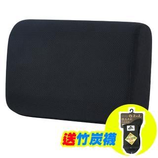 【源之氣】竹炭記憶加厚加軟兩用腰靠 RM-9454(黑色)