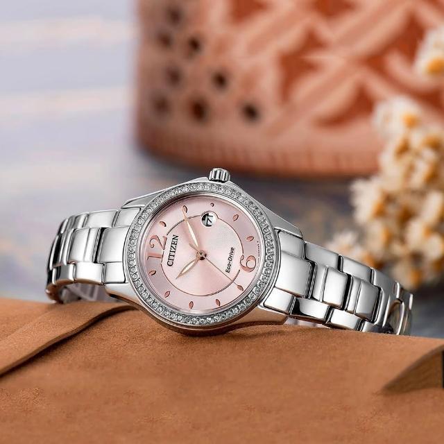 【CITIZEN】光動能美麗境界晶鑽腕錶(FE1140-51X)