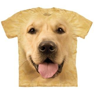 【摩達客】美國進口The Mountain Smithsonian系列大黃金獵犬臉 純棉環保短袖T恤(現貨)
