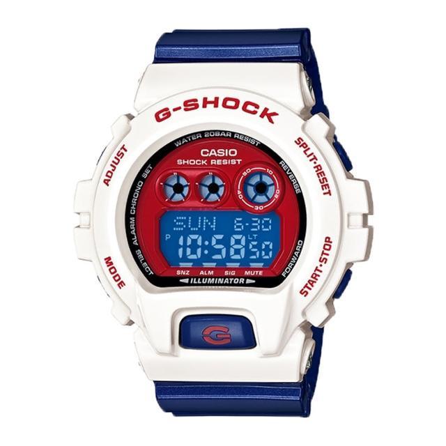 【CASIO 卡西歐 G-SHOCK 系列】耐衝擊 200米 高亮度照明休閒錶(GD-X6900CS)
