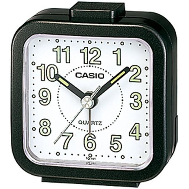 【CASIO 卡西歐】CASIO 桌上型指針鬧鐘-黑(TQ-141-1DF)