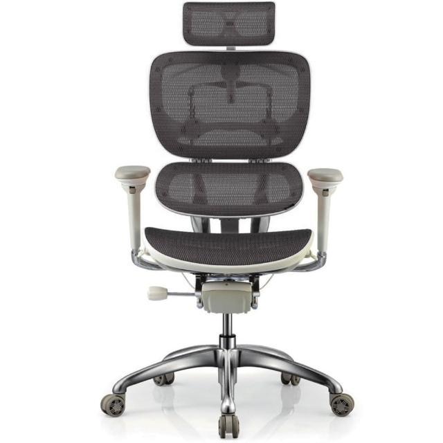 【aaronation愛倫國度】雙層式椅背人體工學椅/電腦椅(JQ-SL-A3-灰)