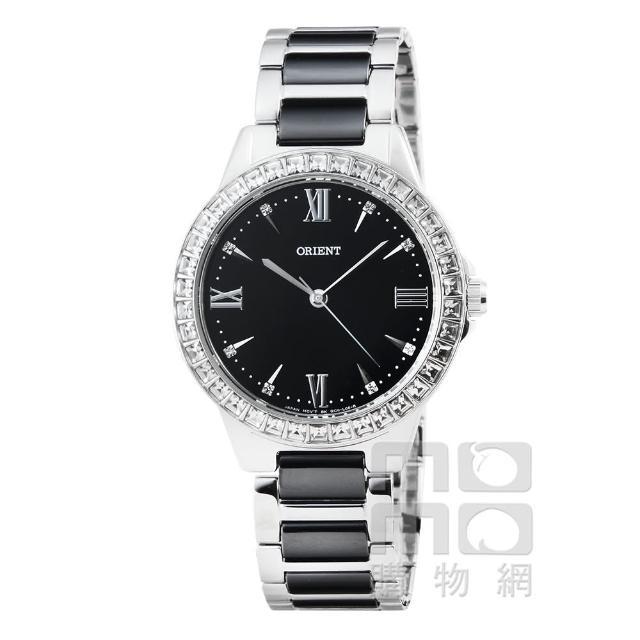 【ORIENT】東方錶CASUAL陶瓷石英女錶-黑(FQC11003B)