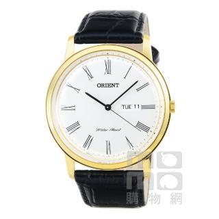 【ORIENT】東方錶經典石英皮帶錶-金(FUG1R007W)