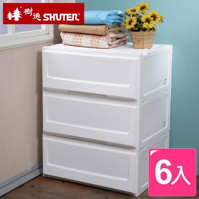 【樹德SHUTER】超大積木系統式單抽收納櫃6入附連接版(搶)
