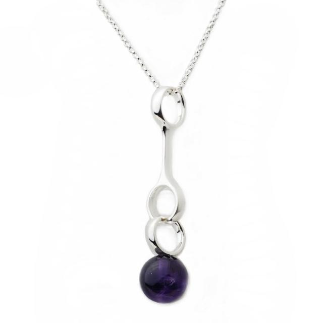 【Georg Jensen】Sphere 紫水晶+純銀項鍊