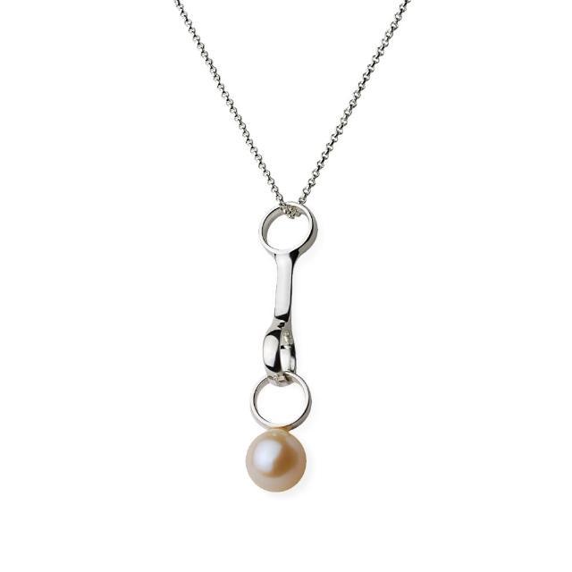 【Georg Jensen】Sphere 珍珠+純銀項鍊