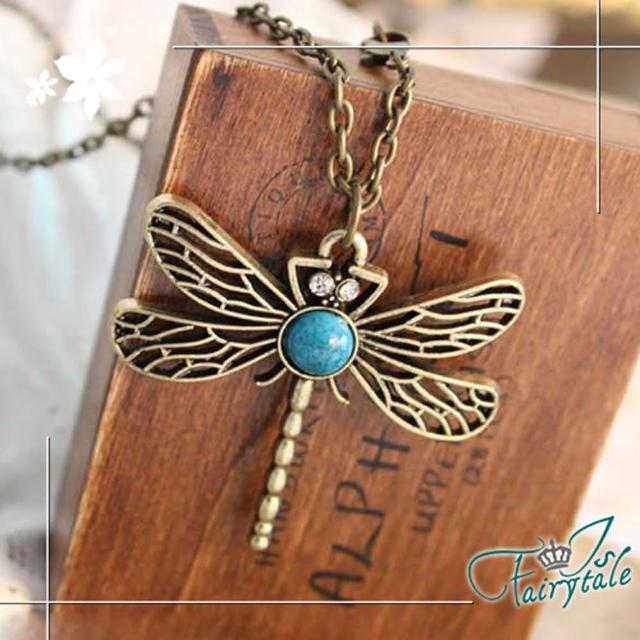 【伊飾童話】鏤空蜻蜓*古銅長鍊