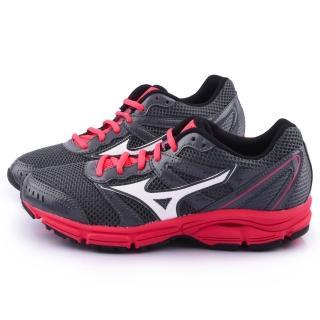 【MIZUNO】女款 WAVE IMPETUS 2 輕量慢跑鞋(J1GF141302-黑紅)
